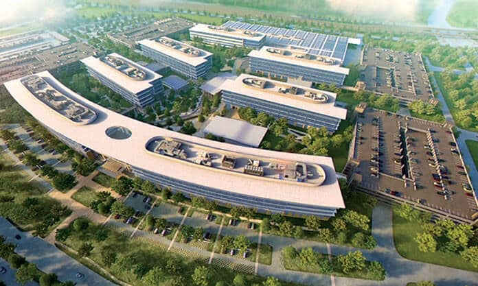 A Rendering of Toyota's Headquarters Campus