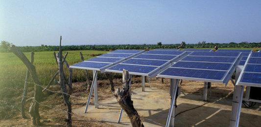 Solar Panels on a Farm in Mali