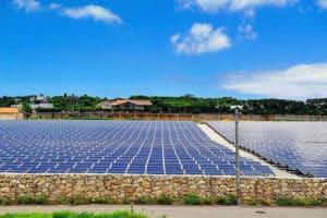 Solar Power Plant on the Okinawa Island of Japan