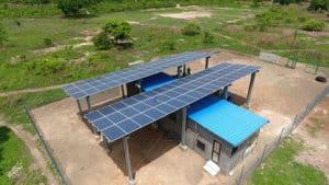 Solar Power House at WAYO ATINGAGORME Providing Inhabitants of the Island
