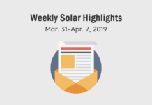 Solar Magazine's Curated News Highlights, March 31–April 7, 2019