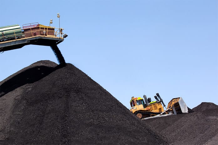 Coal Stockpiles Are Maintained by a Dozer at the Kayenta Coal Mine