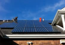 Full Set of Thirty Solar Panels Installed on the Roof