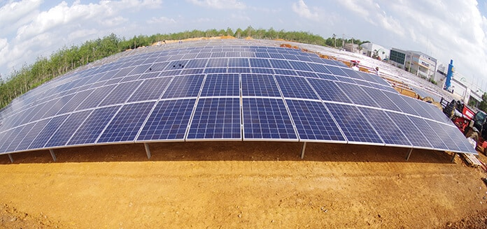 A Solar Power Plant in Quang Binh Province, Vietnam