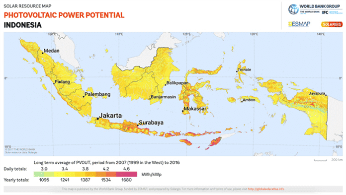 SolarGIS Map of Indonesian Solar Resources