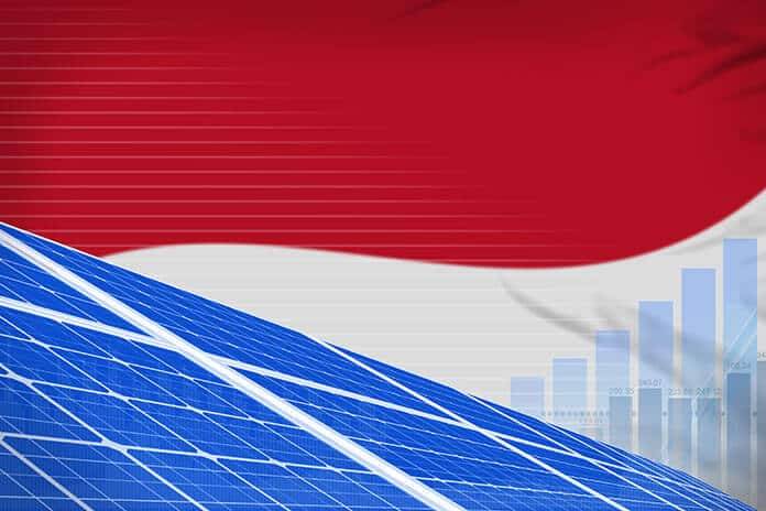 Indonesia Solar Energy Power Digital Graph Concept