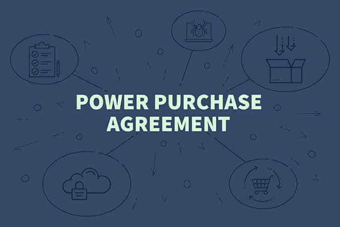 Power Purchase Agreement Conceptual Illustration