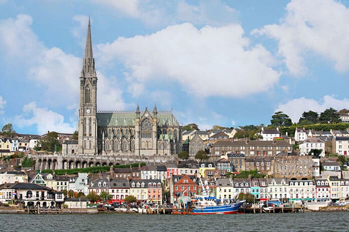 Cobh: Ireland Skyline from the Water on the Way Back from Spike Island