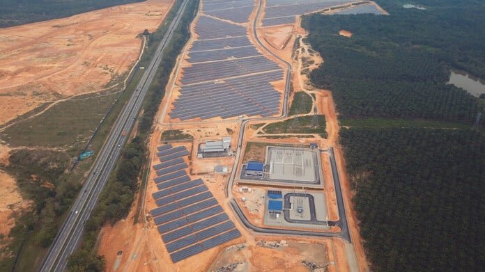 The Jasin Solar Power Plant in Malaysia