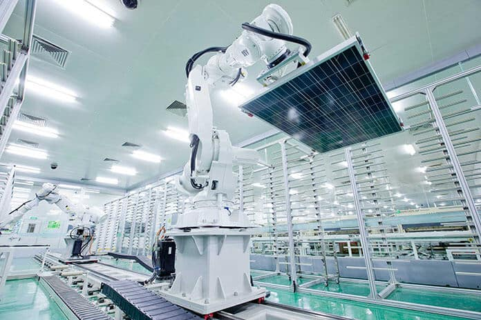 PV Modules Assembly Line Using Modern Robots
