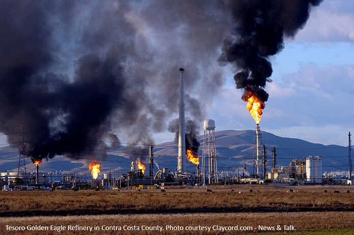 Pollution from the Tesoro Golden Eagle Refinery in Contra Costa County