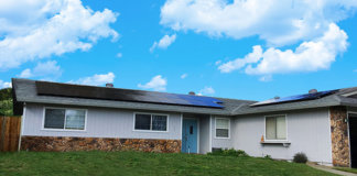 Bifacial Solar Panels Installed on Residential Roofs