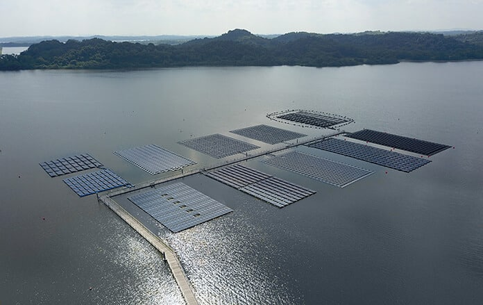 The World's Largest Floating PV Testbed Managed by SERIS, Located in Tengeh Reservoir, Singapore