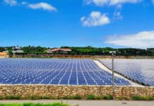 Solar Power Plant in Okinawa, Japan