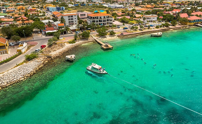 Aerial View of Bonaire—Divers Paradise