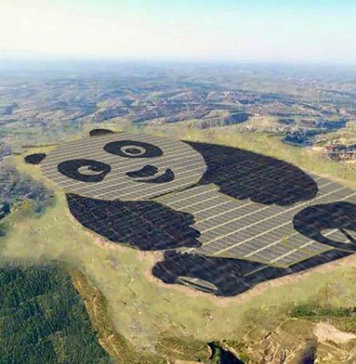 China's Panda Solar Station Along Its New Silk Road