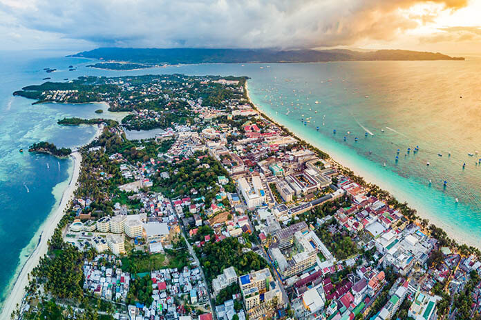 Electrification of the Tropical Seaside Resort, Boracay, Philippines