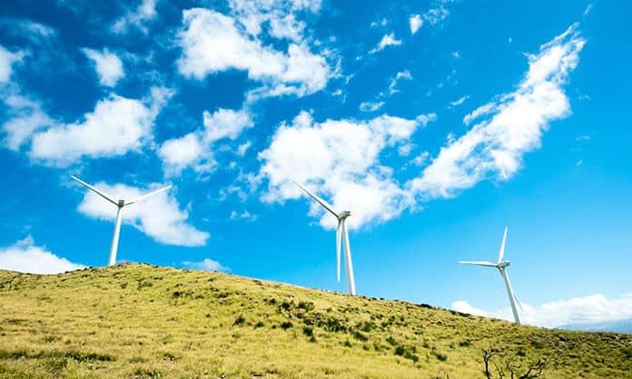 Wind Turbines on the Caribbean Island of Bonaire