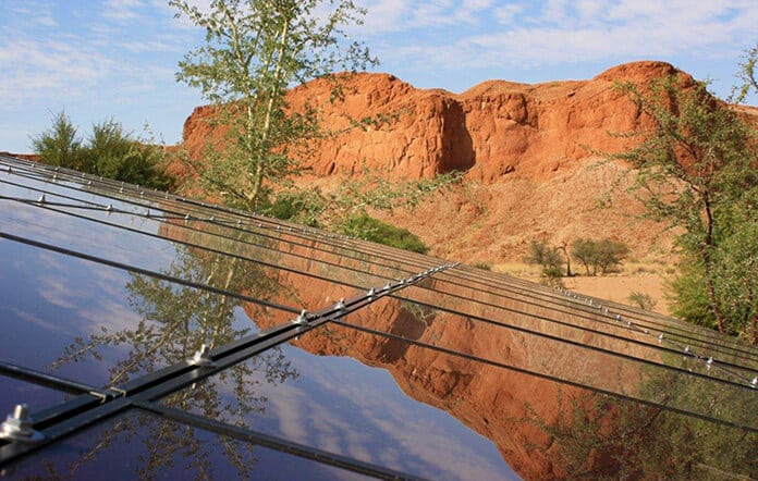 The Solar Panels at Gondwana's Namib Desert Lodge Cover Fifty Percent of the Lodge's Energy Needs