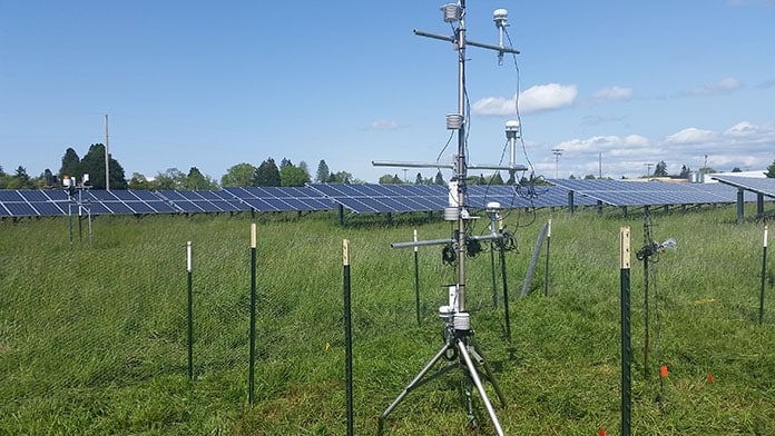 Meteorological Instruments Installed to Measure Temperature, Relative Humidity, Wind Speed Wind Direction and Incoming Solar Energy