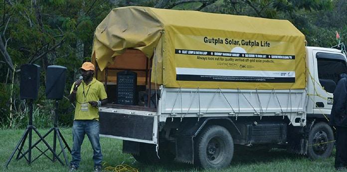 "Interaction During Lighting PNG's ""Gutpla Solar, Gutpla Life"" Consumer Awareness Campaign"