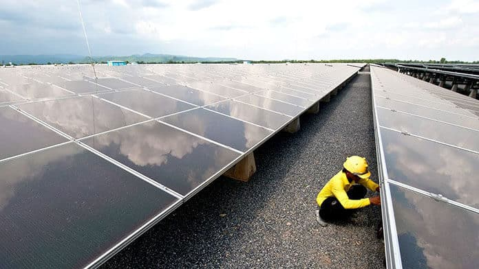 The 73-Megawatt Lopburi Solar Power Plant in Central Thailand