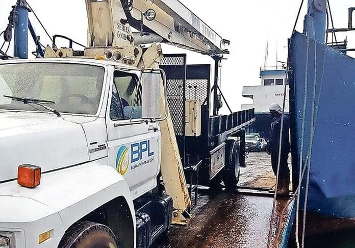 Power Truck from Bahamas Power & Light (BPL) Providing Temporary Power for Bahamians During the Dorian