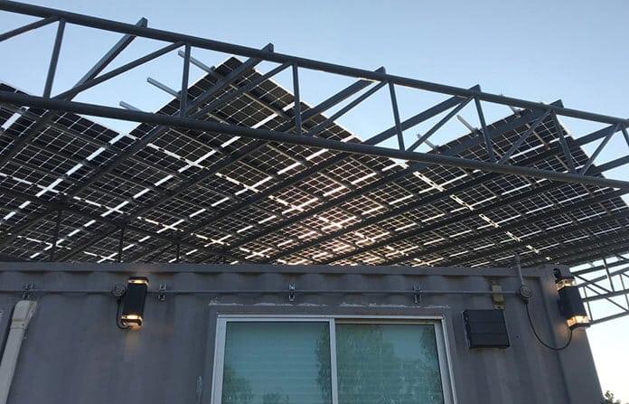 A Bifacial Solar Installation Over a Container House