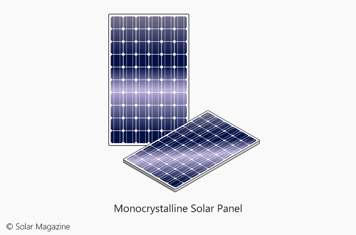 The Illustration of Monocrystalline Solar Panel by Solar Magazine