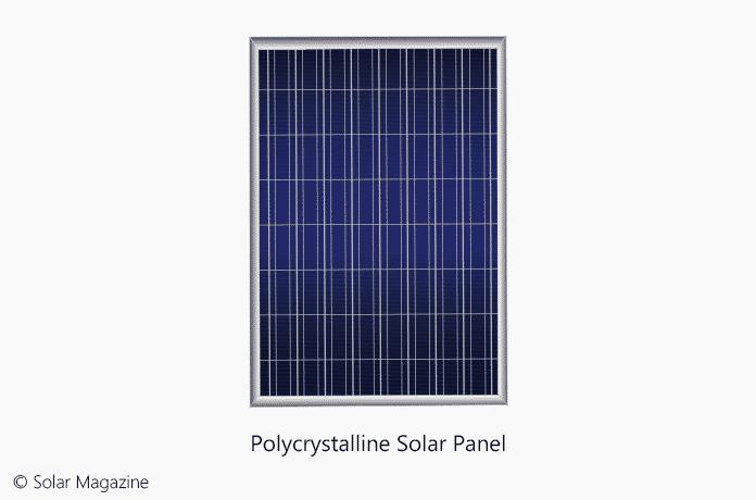 La Ilustración Del Panel Solar Policristalino Pertenece a Solar Magazine