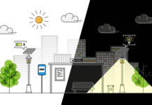 How a Solar Street Light Works - Illustration