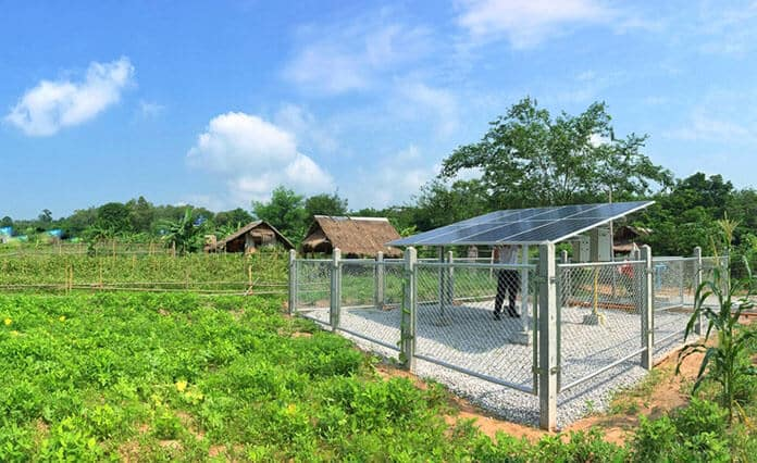 Standalone Solar Water Pumping System for Agricultural Irrigation in Operation