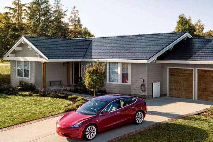 Tesla Solar Shingle Roof and Tesla Model Series Electric Car