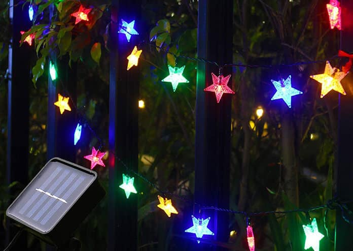 Star-Shaped Solar String Lights With 8 Modes to Excite Kids