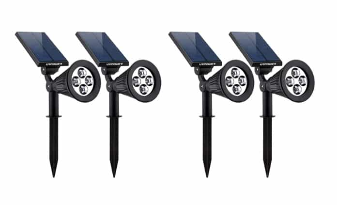 Adjustable Solar Spotlights for Driveway: High Power and Water-Resistance