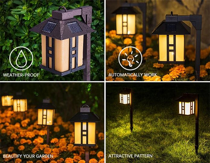 Imitation Solar-Powered Driveway Lamps