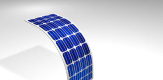 Diagram of Silicon Crystalline Flexible Solar Panels