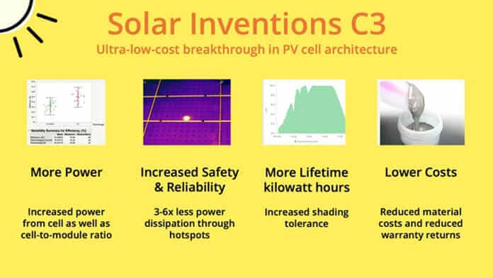 Round One Winner of American Made Solar Challenge: The C3 PV Cell