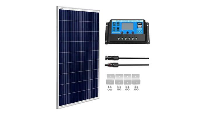 SUNGOLDPOWER 100 Watt 12 Volt Polycrystalline Panel