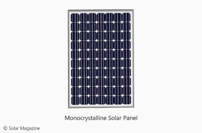 The Illustration of Monocrystalline Solar Panel by Solar Magazine
