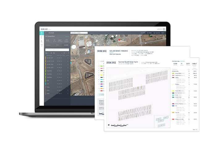 Screenshots of DroneBase's Solar Asset Insight Platform