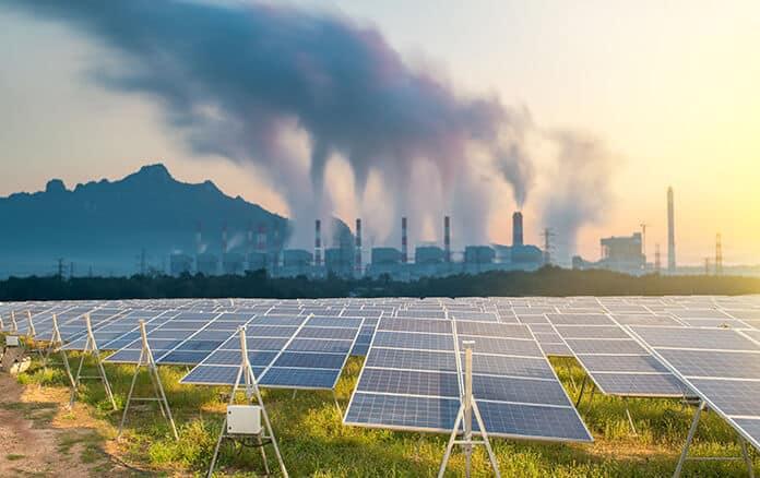 Conventional Coal Power Plant Versus Solar Power Plant