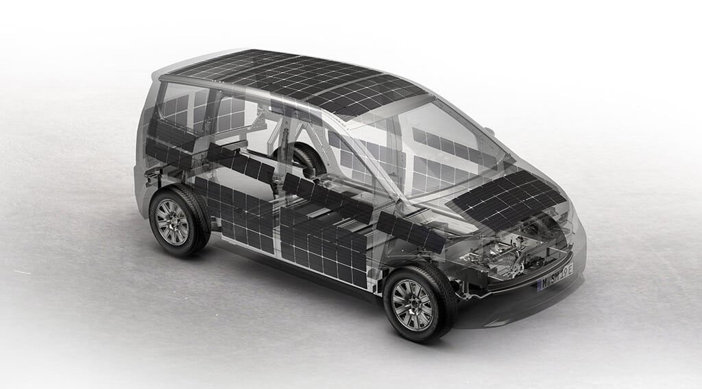 Curved Solar Panels Integrated Onto Sono Motors' Sion Car