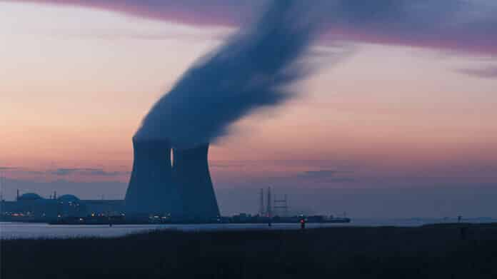 Cooling Towers of a Nuclear Power Plant in Germany